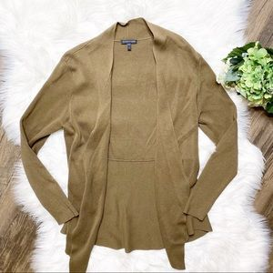 • Eileen Fisher Open Front Brown Knit Cardigan •